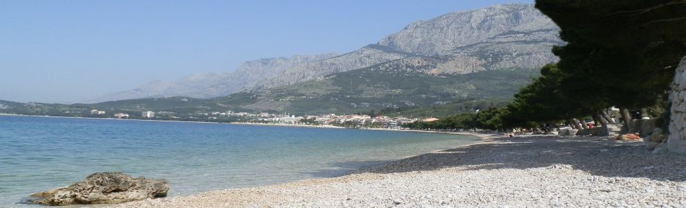 Beach in front of Apartments in Tucepi